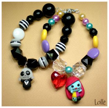 Fimo Jack e Sally by LolleBijoux