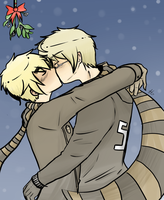 UNDER A MISTLETOE by akitokun1