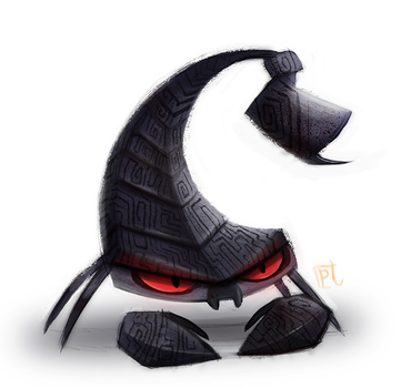 Daily Paint #679. Scorpion Quickie by Cryptid-Creations