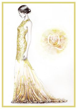 Allexander McQueen - fashion illustration by Tania-S