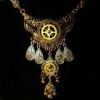 Epic Steampunk Tribal Necklace by Om-Society