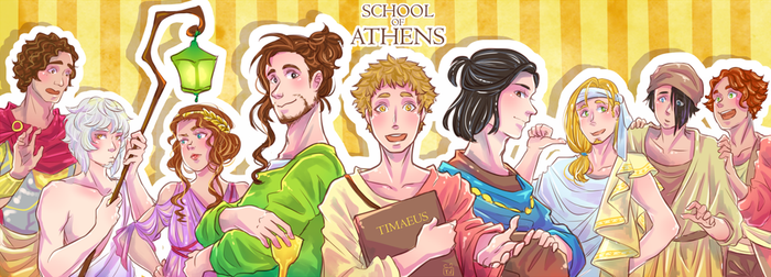 [SoA] The School of Athens by sketchy-milk