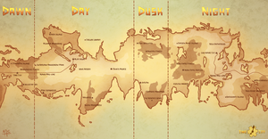 Time City World Map by Keikilani