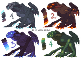 Monster 6$ Adoptables for charity by LiLaiRa