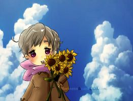 Sunflowers and Sky by Zazu