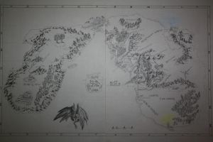Map of Middle-Earth and the Undying Lands by DominikFanta