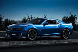 Blue Chevrolet Camaro by AmericanMuscle