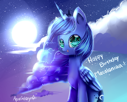 Happy birthday macalaniaa! Luna by AquaGalaxy