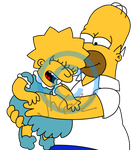 Homer tickling Lisa by jh622