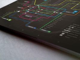 Subway infographic design elements + grid system-D by Lemongraphic