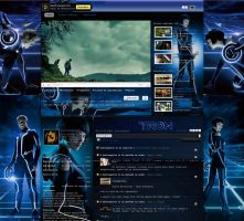 My Tron Legacy Youtube Page V2 by dantenopolis