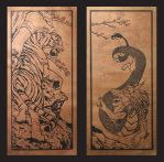 Tiger and Dragon Print-Copper Foil by CrimsonWolf2016