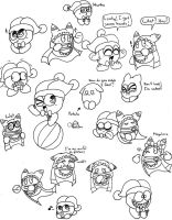 Marx and Magolor Doodles by Chenanigans