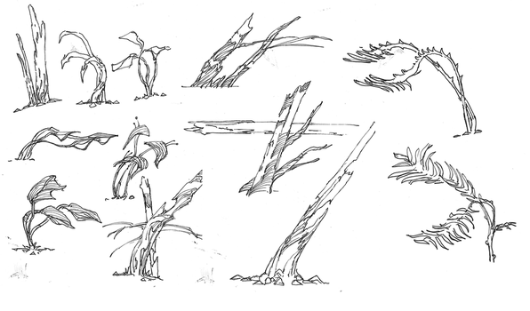 Wind - Forest plant sketches by parkurtommo