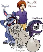 Me and my Monsters by TheMindOfAnArtist