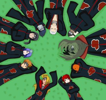 Akatsuki members relaxing by xXUnicornXx
