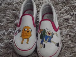 Adventure time shoes by RUBYREDMOND