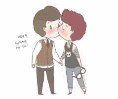 Marcel and Punk!Louis by milamint