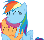 Sisters (RD and Scootaloo vector) by MachStyle