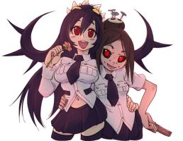 012713  Filia and Painwheel by crybringer