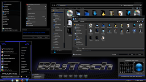 Windows 7 theme : BluTech by JockHammer