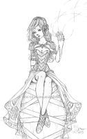Random Sketch - Sorceress by Fylgjur