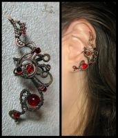 Ear cuff Phoenix by JSjewelry