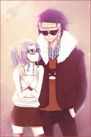 Gajeel and Levy by Rinjaa