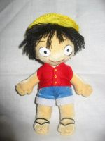 Luffy plushie, One Piece by Rens-twin
