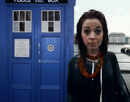 Lindsey Stirling and TARDIS by MrArinn