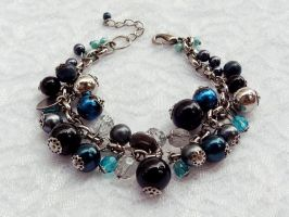 Pulseira Azul Chic by rosye