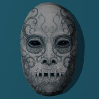 Papercraft Death Eater Mask 1 by Tektonten