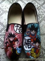 Goku Custom shoes by societymisfit