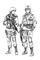 BF4 RU Assault class (line art) by i-am-thomas