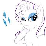 Rarity Line Art by caboose759