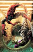 Spidey vs LizardComic-Coloring by RudyVasquez