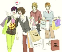 Shinee Shopping. by Kickable-Puppy
