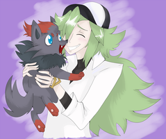 N and Zorua by shunuko