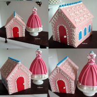 1-6 cookie house n dress cake by Snowfern