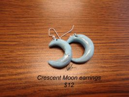 Moon Earrings by GuardianOfTheFlame