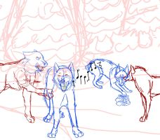 Winter Wonderland Christmas Commision1 WIP by TheFallenWhisper