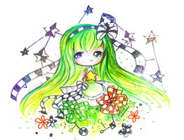 Glitter and flowers by mochatchi