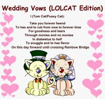 Wedding Vows - LOLCAT Edition by bchan