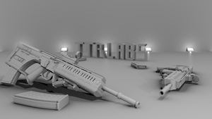 BR-55 Assault Rifle by ttrlabs