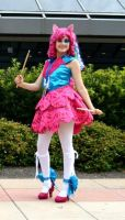 Sarahndipity Cosplay-- Rainbow Rocks Pinkie Pie by pinkiespartycannon12