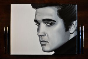 Elvis Presley Oil Painting by Rollingboxes