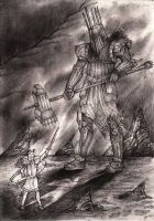 Morgoth Battles Fingolfin by lomehir