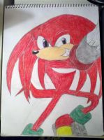 Knuckles the echidna by skrallhunter
