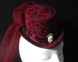 Brocade Cameo Mini Top Hat by Trinitynavar