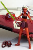 Ahsoka Tano Custom Figure with NO PANTS by jvcustoms